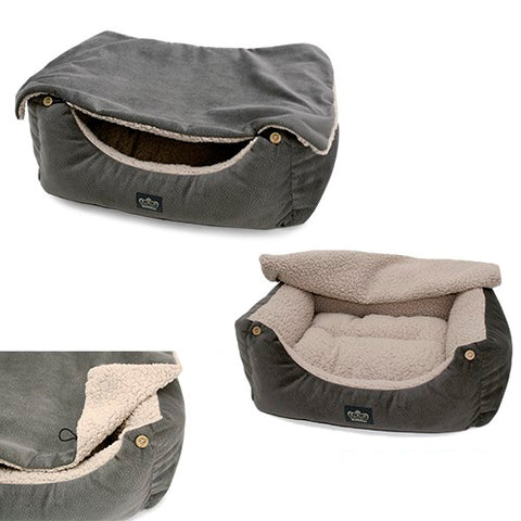 cover gray dog bed
