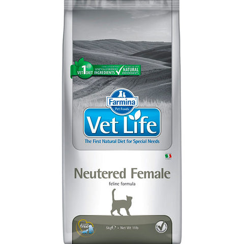 FARMINA VET LIFE NATURAL CAT NEUTERED FEMALE 5 KG