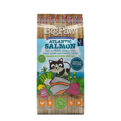 Little Big Paw atlantic salmon gatos adultos pienso