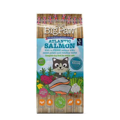 Little Big Paw atlantic salmon gatos senior pienso