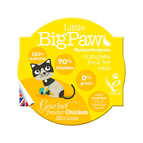 Little BigPaw Chicken Gourmet Mousse para gato