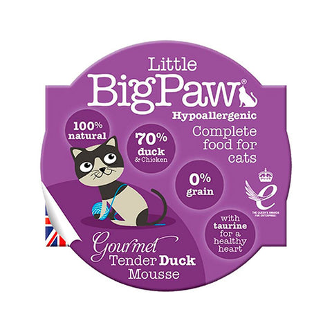 Little BigPaw Duck Gourmet Mousse para gato