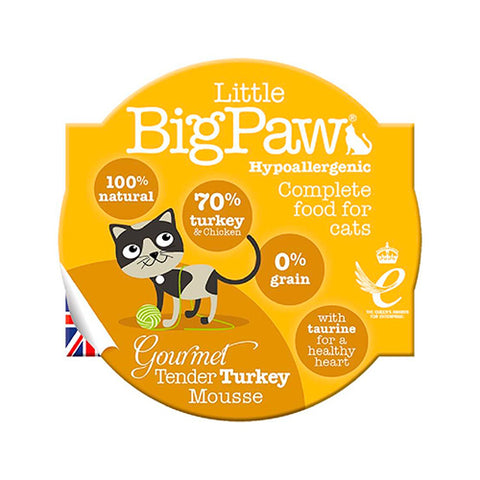 Little BigPaw Turkey Gourmet Mousse para gato