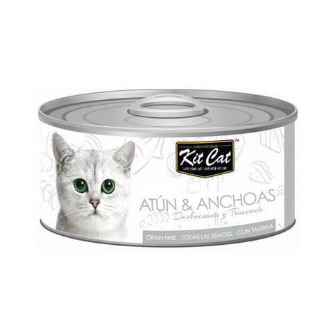 Kit Cat atún y anchoas alimentación natural para gato