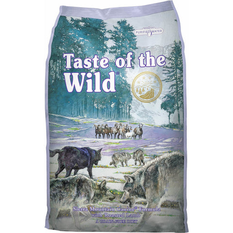 Taste of the wild Sierra Mountain perro