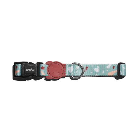 Zee.Dog Collar Terrazo Green