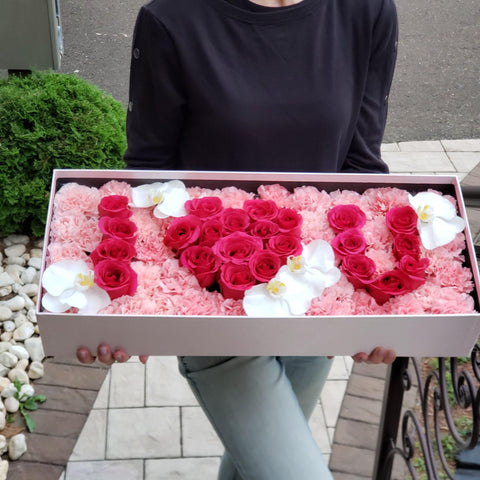 Bloom de Fleur Bouquet Big Box I Love You Box