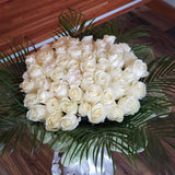 Bloom de Fleur Bouquet Bouquet - 55 Tall White Roses
