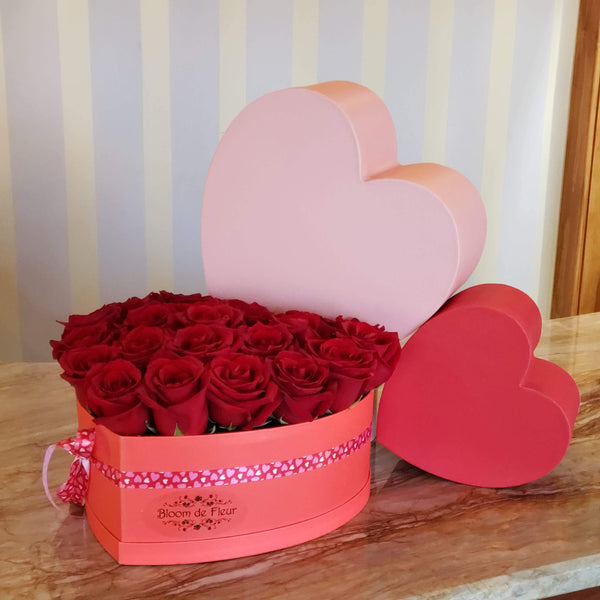 Bloom de Fleur Bouquet Heart Box