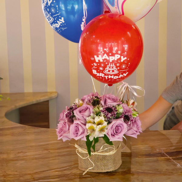 Bloom de Fleur Bouquet Vase - Express w/ Balloons