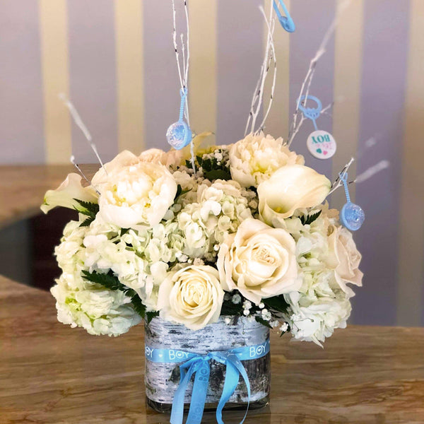 Bloom de Fleur Bouquet Vase - It's a Boy