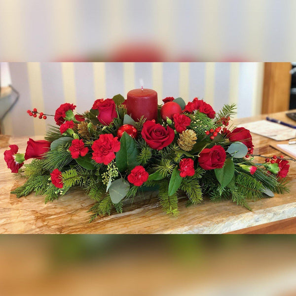 Bloom de Fleur Centerpiece Holiday Centerpiece Red