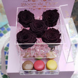 Bloom de Fleur Forever Roses Infinity N°.5 with Drawer - Forever Roses - Chocolate