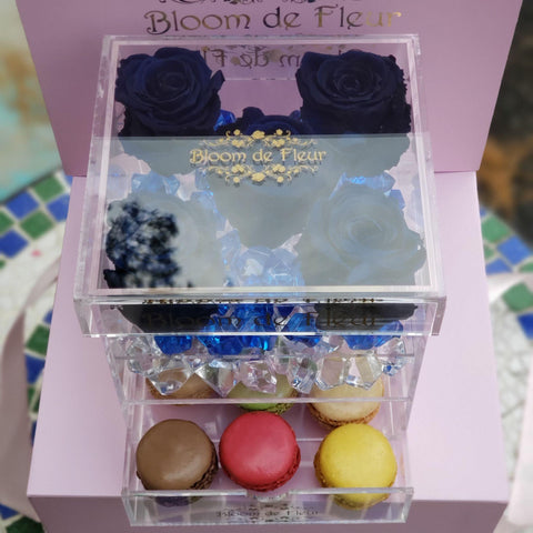 Bloom de Fleur Forever Roses Infinity N°.5 with Drawer - Forever Roses - Sky Blue