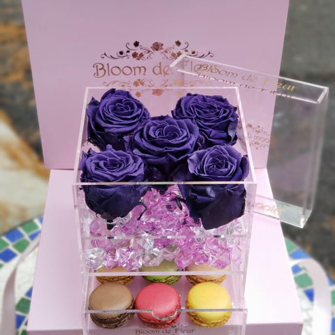 Bloom de Fleur Forever Roses Infinity N°.5 with Drawer - Forever Roses - Violet