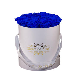 Bloom de Fleur Forever Roses Luxury White - Forever Blue