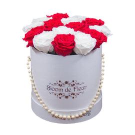 Bloom de Fleur Forever Roses Luxury White - Forever Christmas