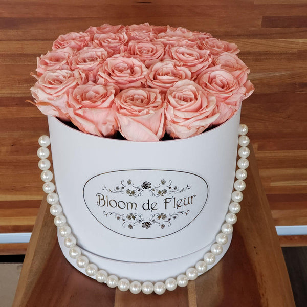 Bloom de Fleur Forever Roses Luxury White - Forever Peach