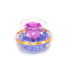 Bloom de Fleur Forever Roses Single Rose - Forever Lavender