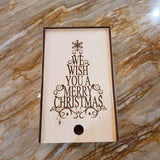 Bloom de Fleur Gift Wooden Gift Box- Christmas Tree