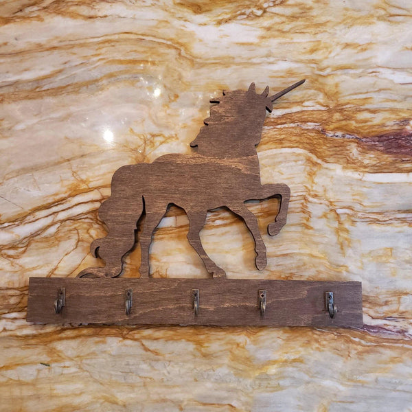 Bloom de Fleur Gift Wooden Key Hanger - Unicorn