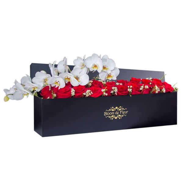 Bloom de Fleur Luxury Black Luxury Black - Classic Red w/ Orchids