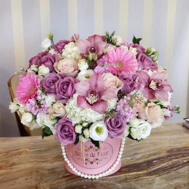 Luxury Round Pink  - Lavender Beauty - Bloom de Fleur