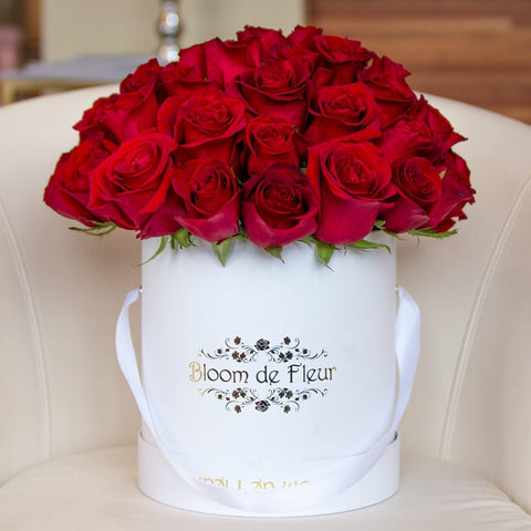 Bloom de Fleur Luxury White Luxury White - Fifty Roses