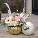 Bloom de Fleur Luxury White Pumpkin - White Fall