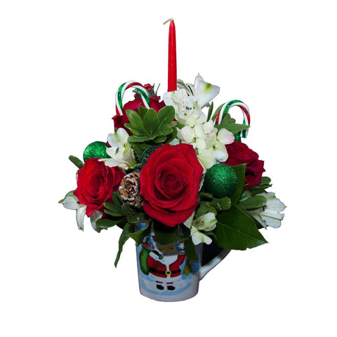 Bloom de Fleur Mug Christmas Flower Mug