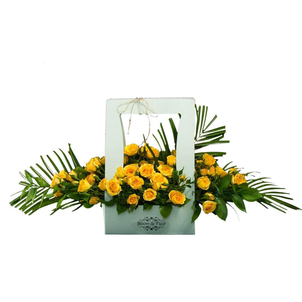 Bloom de Fleur Tote Tote w/ Yellow Roses