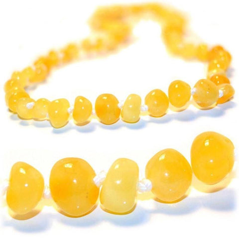 The Art of Cure Baltic Amber Baby Necklace (12.5in), Butter