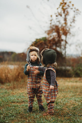 Fin & Vince Overall, Plaid Flannel
