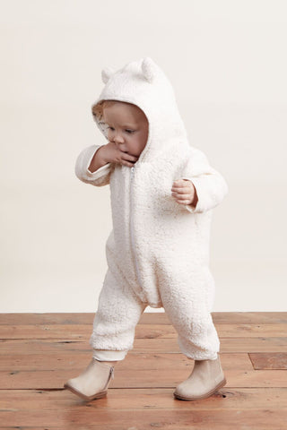 Lil' Lemons Little Bear Onesie, Cloud White