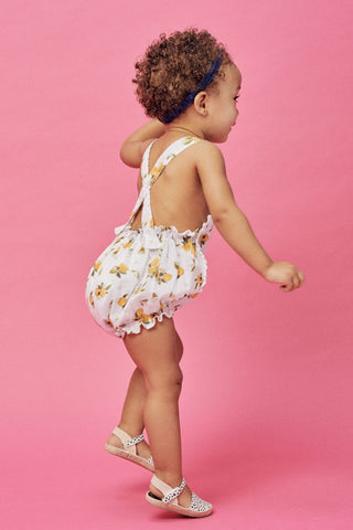 Lil' Lemons Bloom Bubble Romper, Lemonade