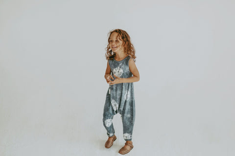 Little Urban Apparel Indigo Wash Bubble Romper