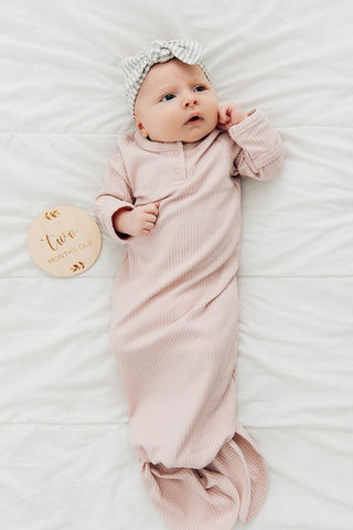 mebie baby knot gown
