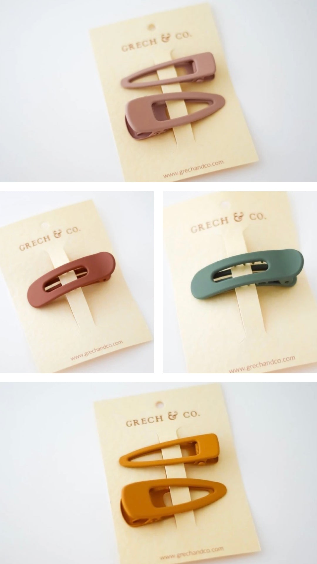 grech & co sustainable hair clips