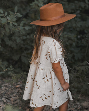 Rylee + Cru Horses Jeanette Dress, Natural