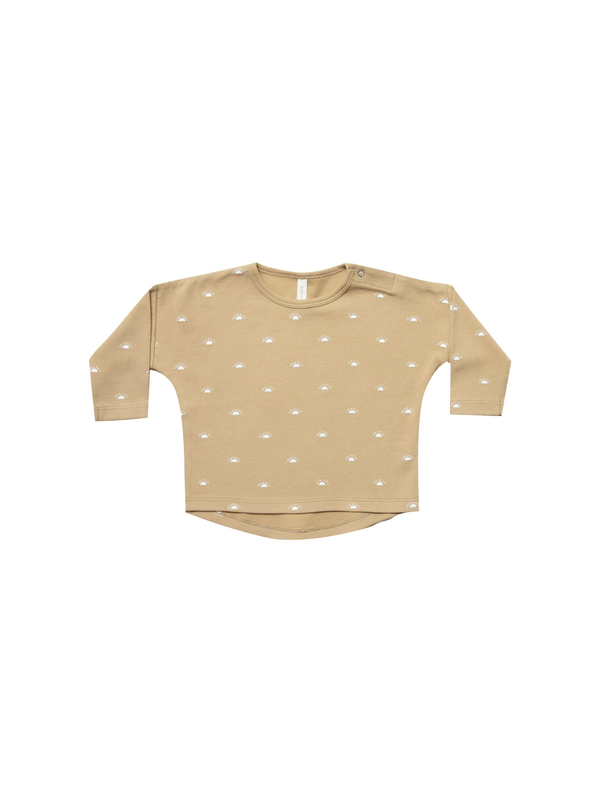 Quincy Mae Organic Longsleeve Baby Tee, Honey