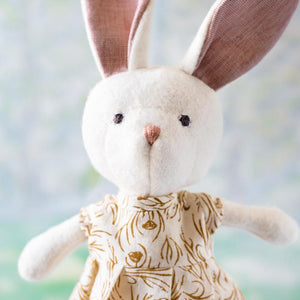 Hazel Village Penelope Rabbit in Herb Meadow Dress