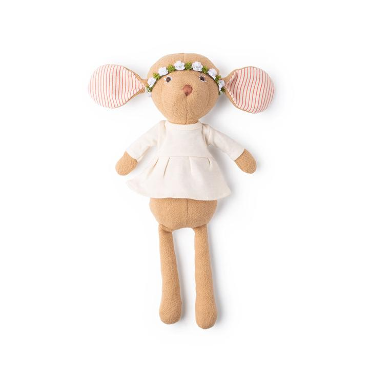 Hazel Village Annicke Mouse in Natural Tunic and Flower Crown