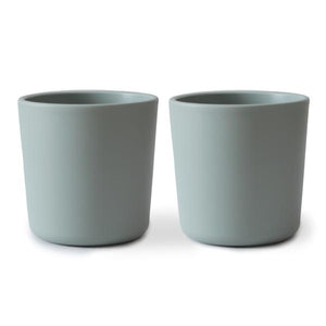 Mushie Square Dinnerware Cup Set, Sage