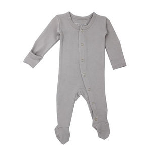 L'ovedbaby Organic Footed Overall, Light Gray