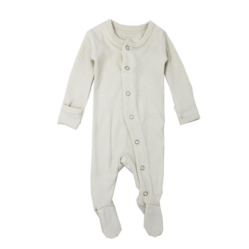 L'ovedbaby Organic Footed Overall, Stone