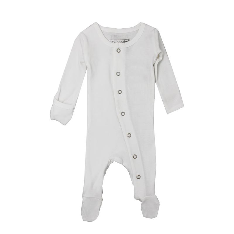 L'ovedbaby Organic Footed Overall, Basic White