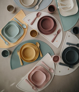 Mushie Square Dinnerware Cup Set, Blush