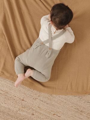 Quincy Mae Organic Chunky Knit Baby Blanket, Honey