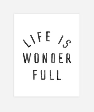 Rylee and Cru Life is Wonderful Art Print