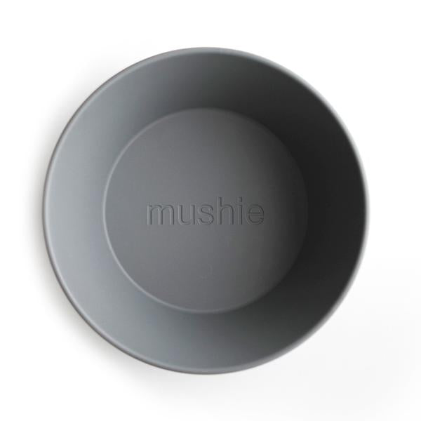 Mushie Round Dinnerware Bowl, Smoke